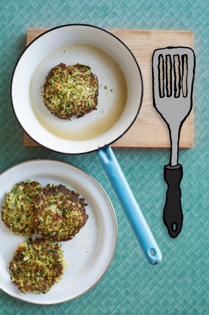 I'd Eat That - Zucchini Haloumi Fritters